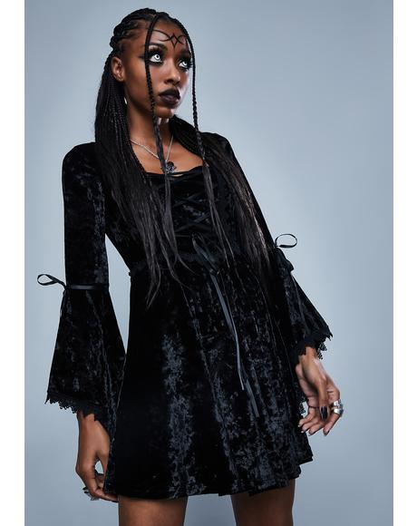 Fear The Night Bell Sleeve Dress