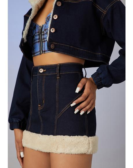 Attention Seeker Denim Mini Skirt