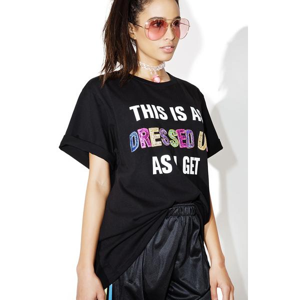 Local Heroes Dressed Up Sequins Oversized Tee