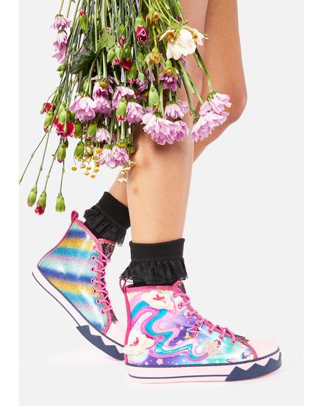Blazing Star High Top Sneakers