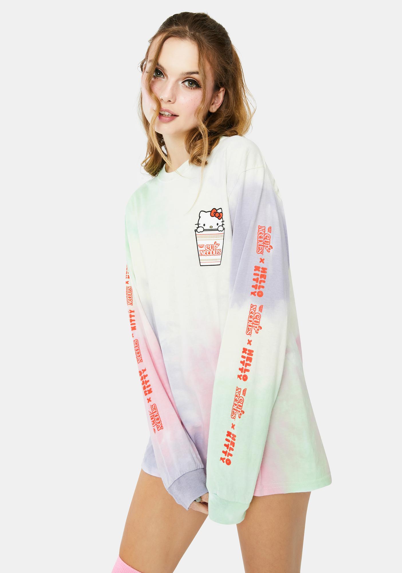 Hello Kitty x Cup Noodles Tie Dye Long Sleeve Tee