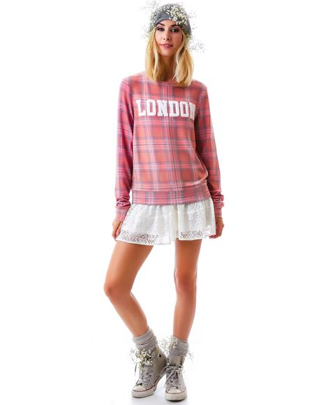 London Plaid Baggy Beach Jumper
