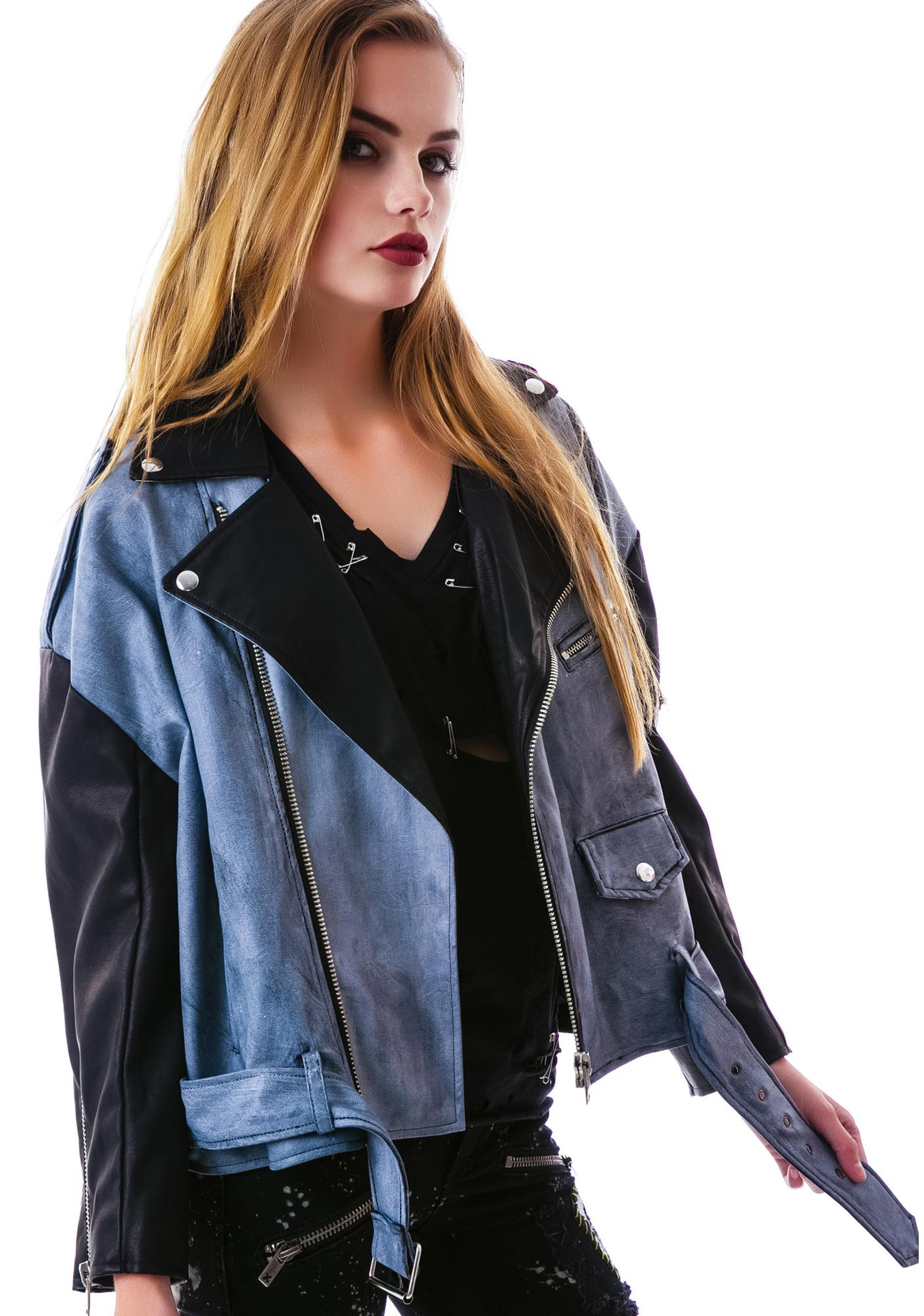 UNIF Contrast Slacker Moto Jacket