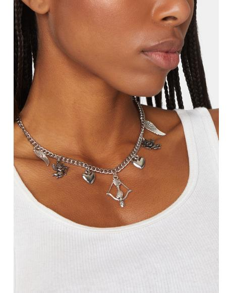 Arrow Hearts Chain Necklace