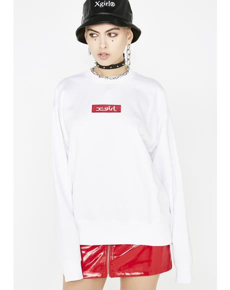 Box Logo Crew Sweatshirt