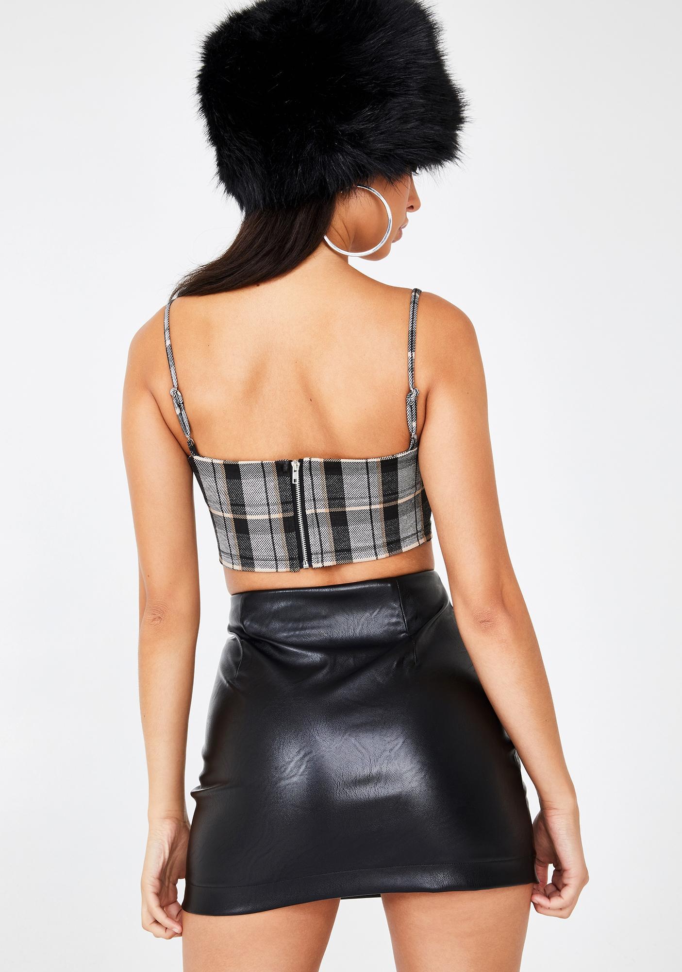 Tiger Mist Clara Faux Leather Skirt