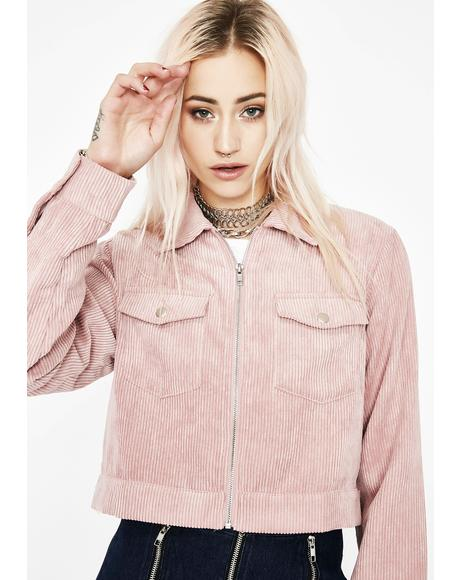 Make Ya Blush Corduroy Jacket