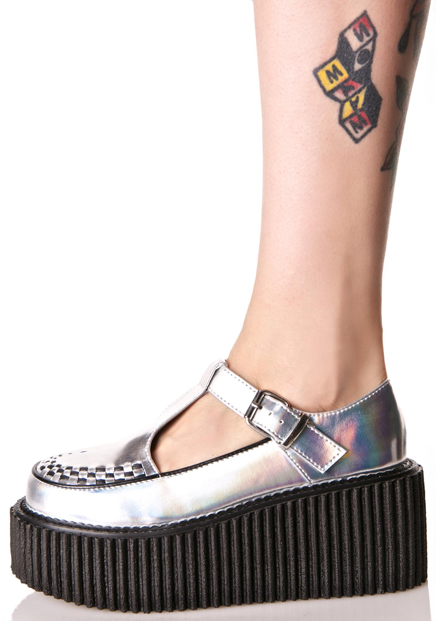 Demonia Starbeam T-Strap Creepers