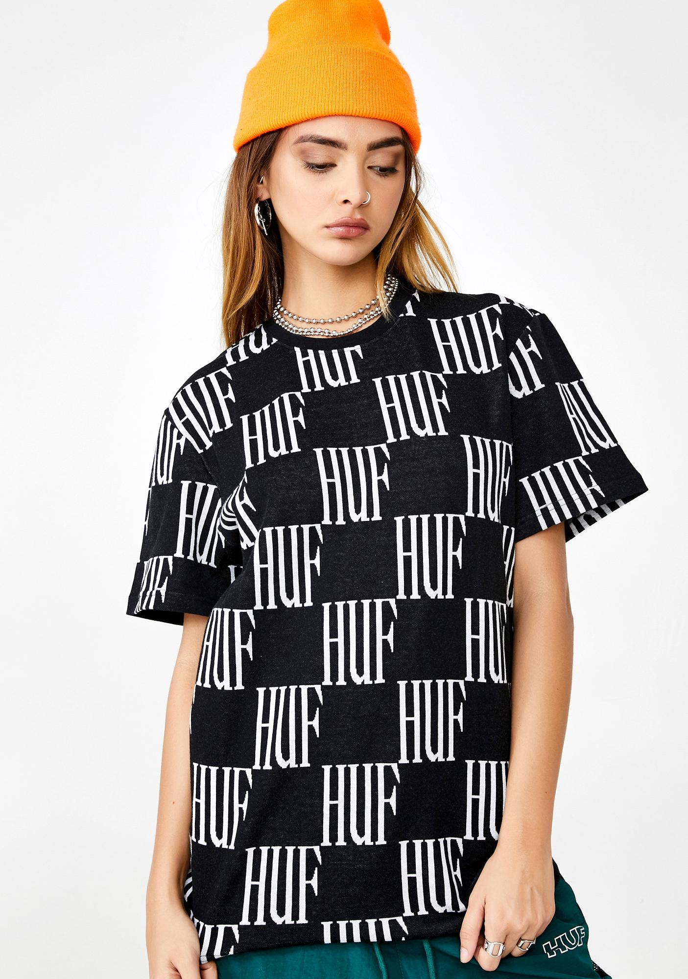 HUF Big Checked Knit Graphic Tee
