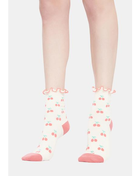 I'm So Sweet Cherry Socks