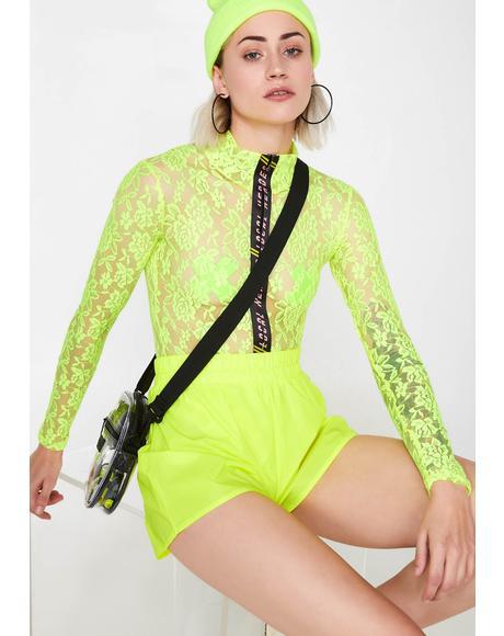 Neon Lace Bodysuit