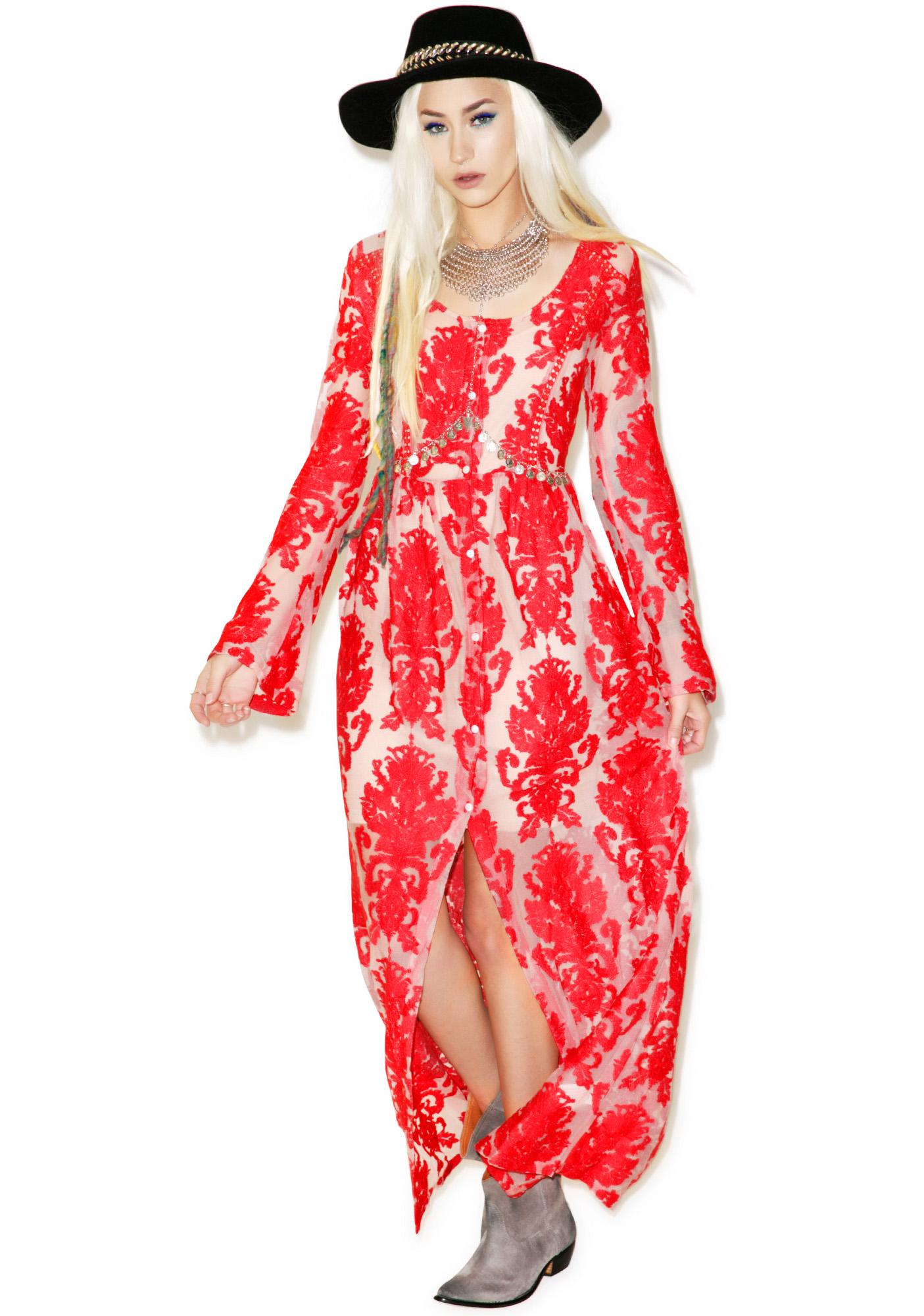 Mink Pink Crime of Passion Maxi Dress