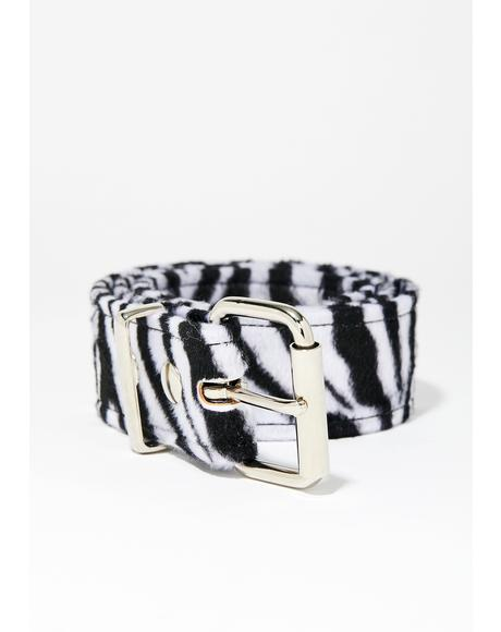 Crazy Train Zebra Belt