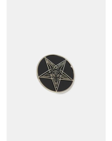 Goathead Enamel Pin