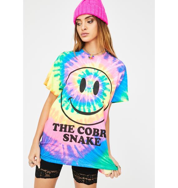 The Cobra Snake Smiley Tie Dye Graphic Tee