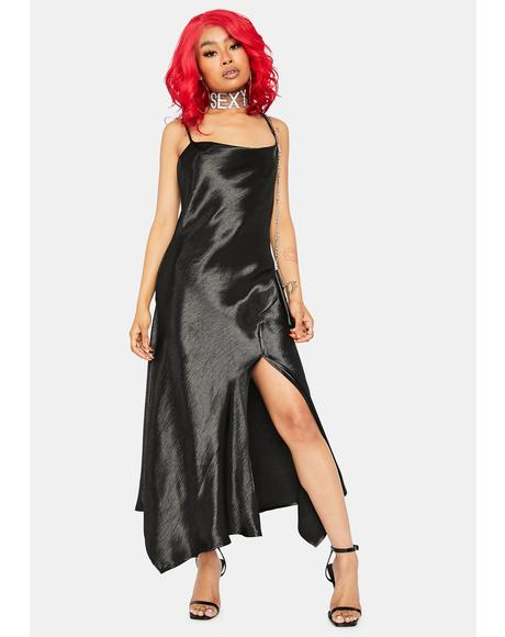 Noir Rumor Has It Midi Dress