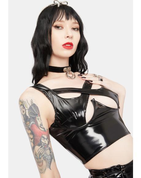 Danielle Vinyl Corset Top