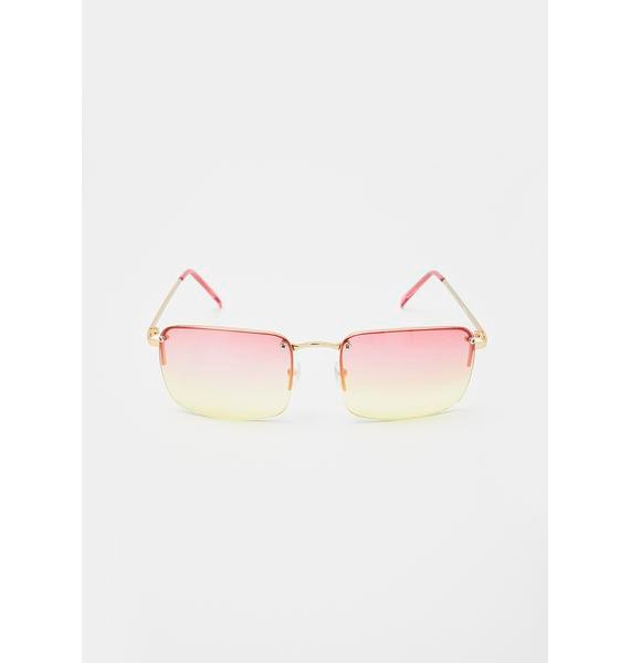 Good Times Eyewear Sweet Fire Red Yellow Sunglasses