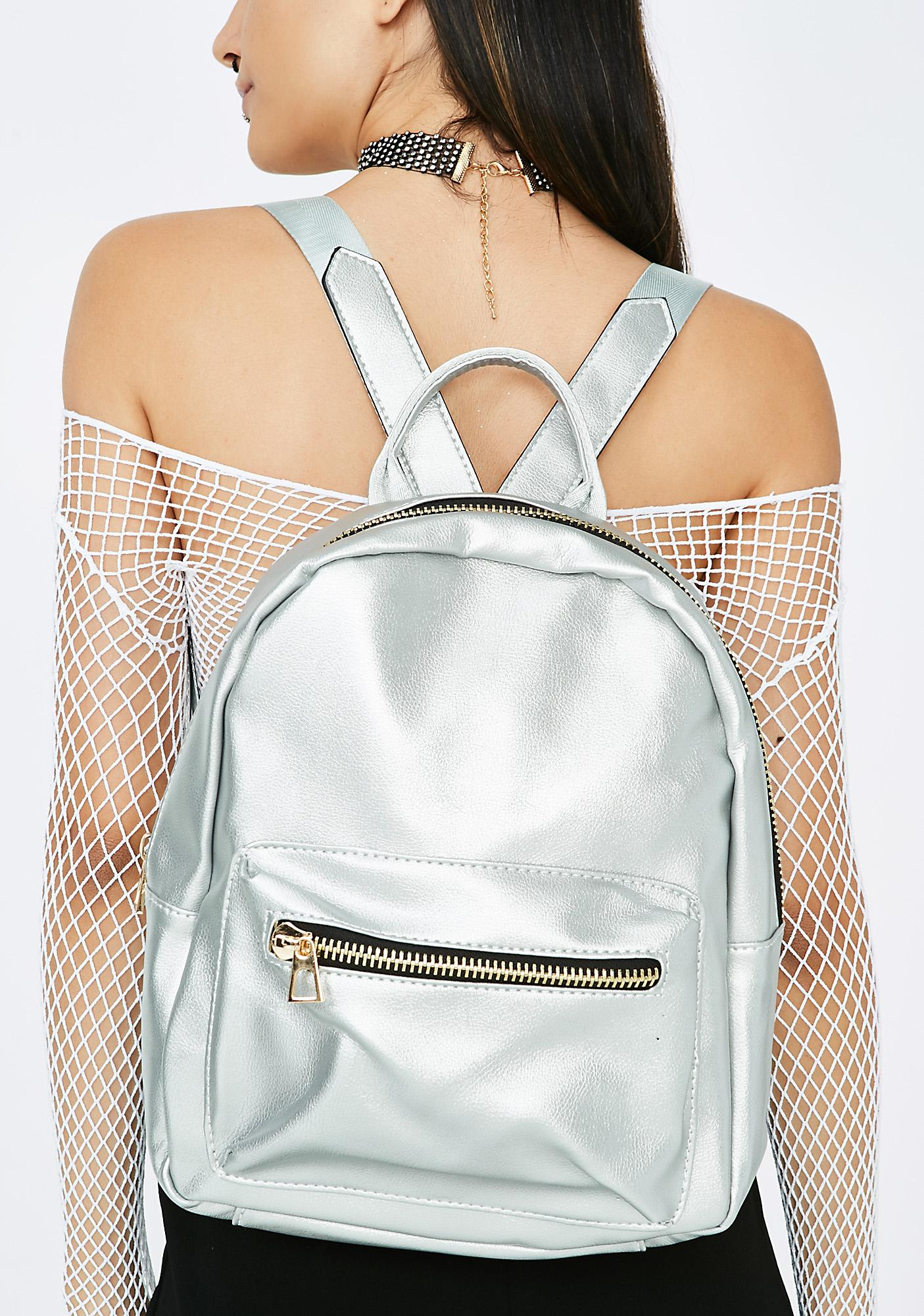 Over The Moon Metallic Backpack