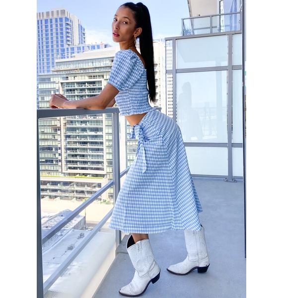 Prairie Romance Gingham Skirt
