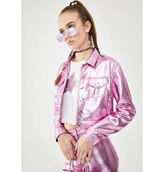dELiA*s by Dolls Kill Made Of Dreams Metallic Jacket