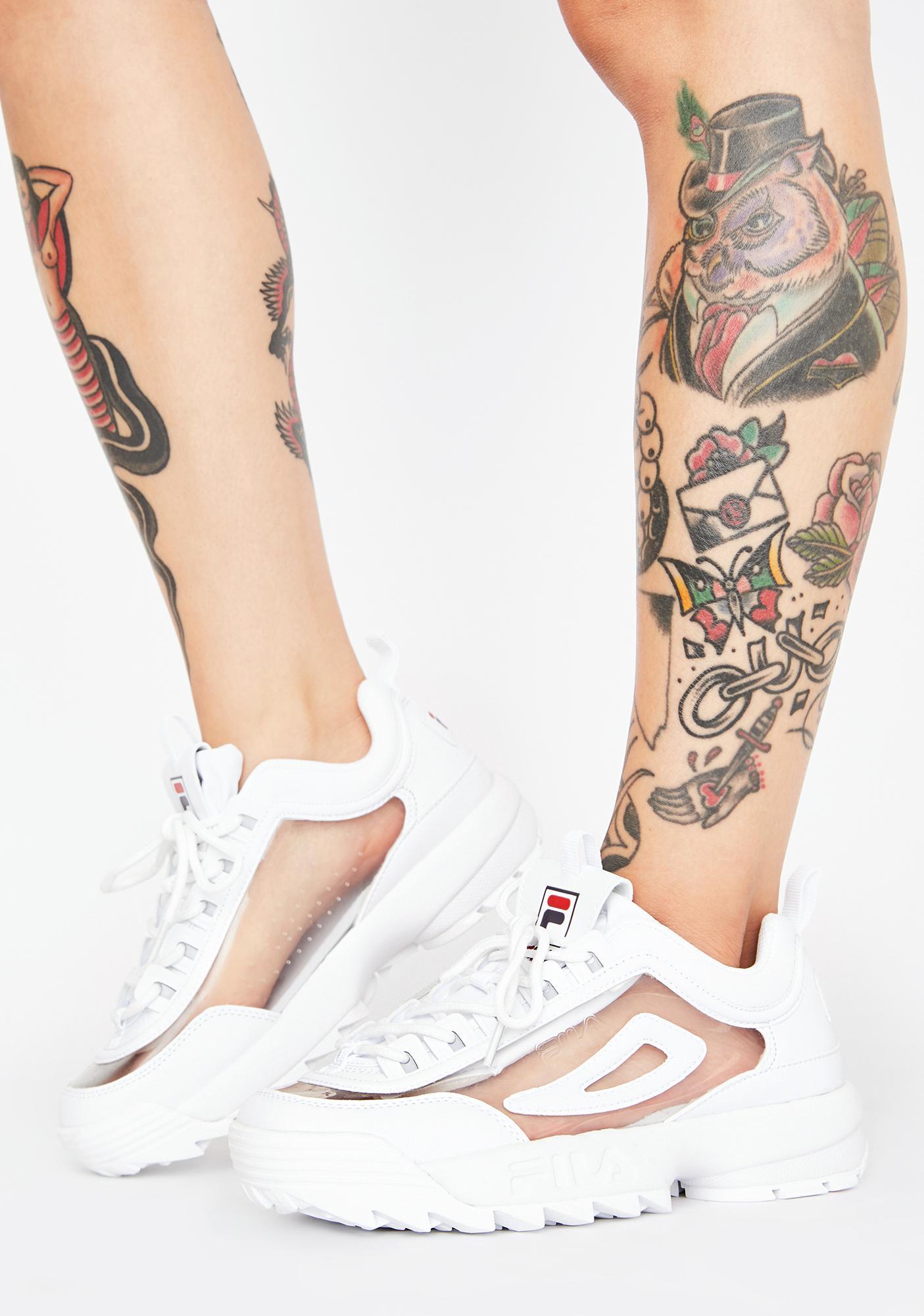 Fila Disruptor 2 Clear Sneakers   Dolls