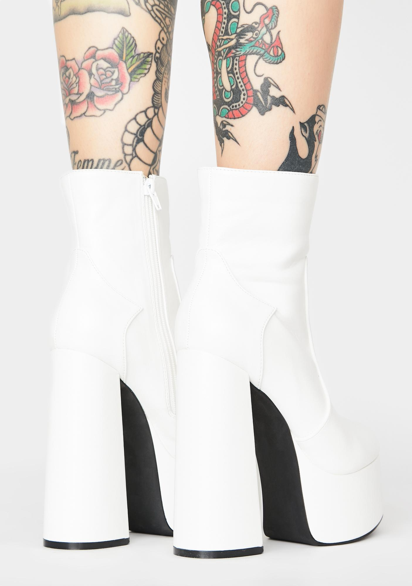 Ivory Lost N' Never Found Platform Boots