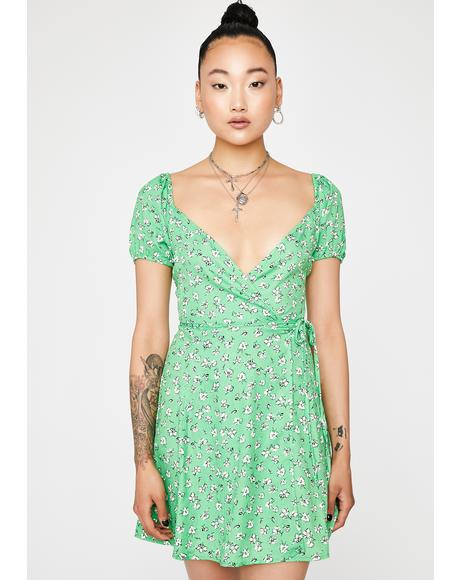 Kelly Floral Wrap Dress