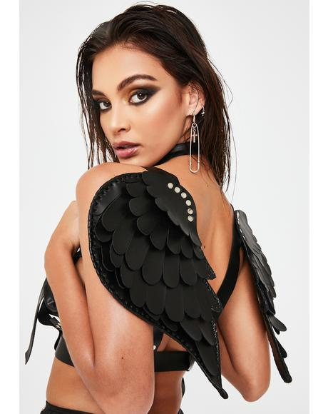 Black Angel Wings Harness