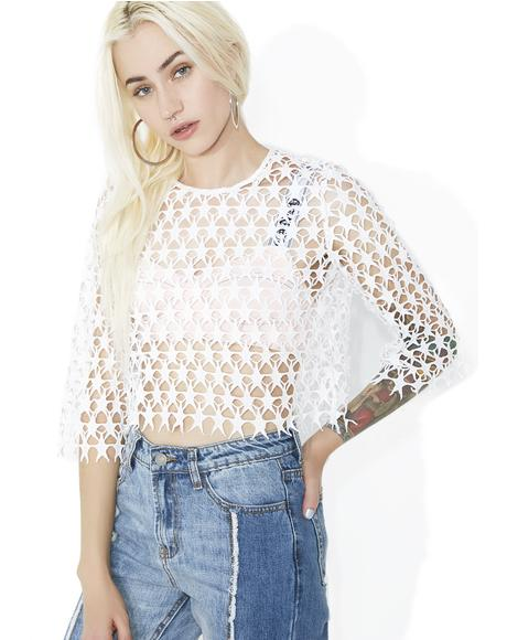 Stars In Her Eyes Crochet Top