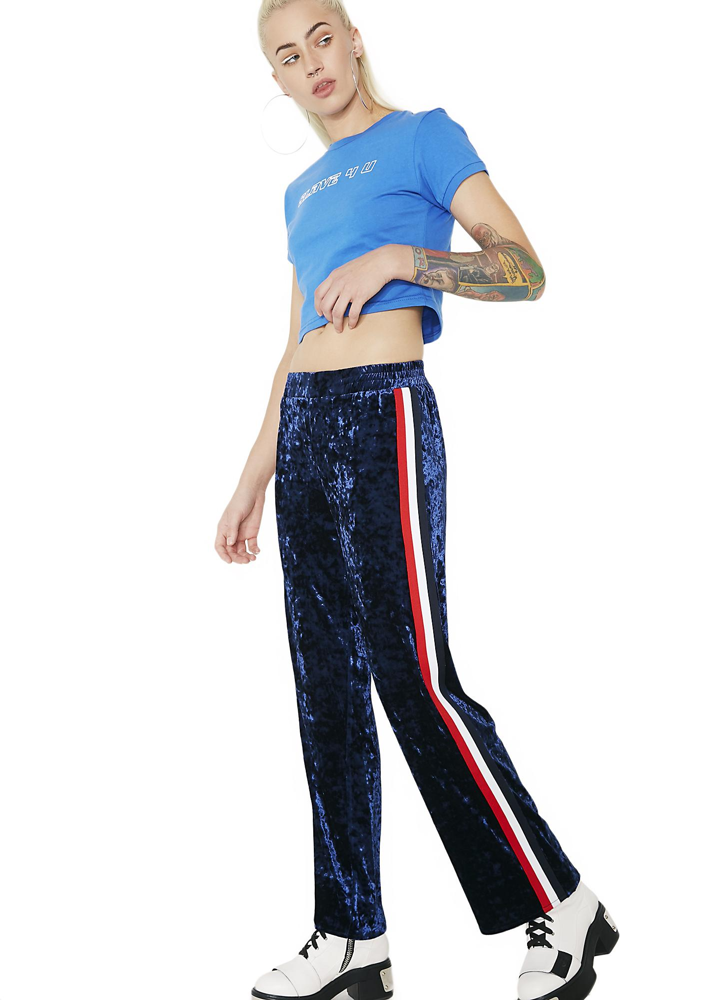 Glam Jam Velvet Track Pants