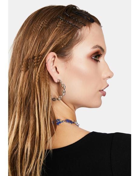 Burn Notice Hoop Earrings
