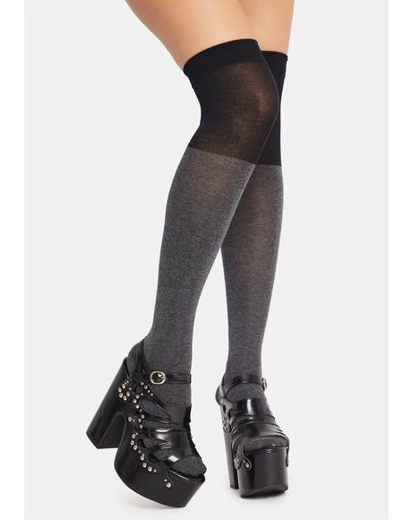 Noir Rotten To The Core Thigh Highs