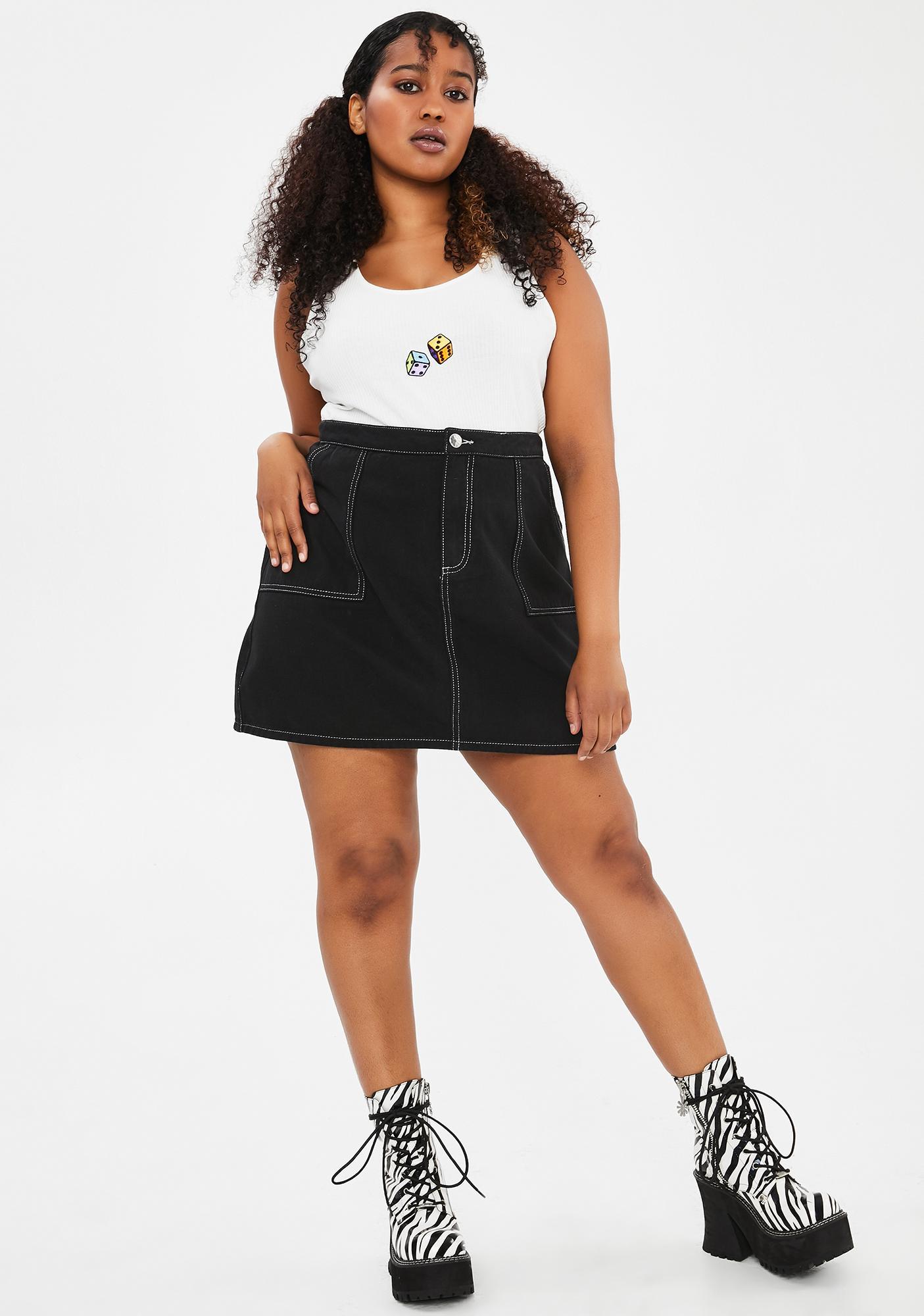 dELiA*s by Dolls Kill Miss Flirting With Trouble Mini Skirt