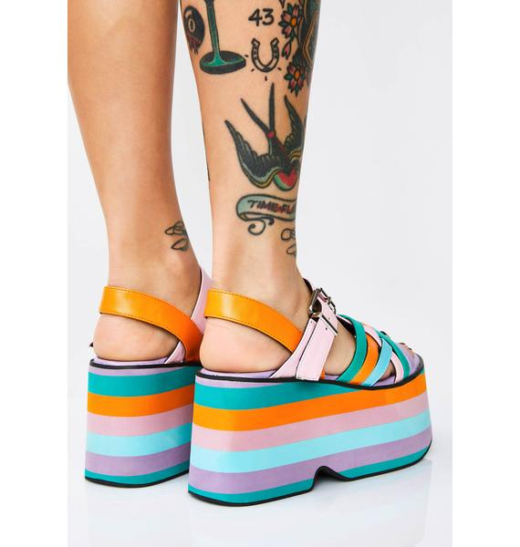 Current Mood Candy Crush Platform Sandals
