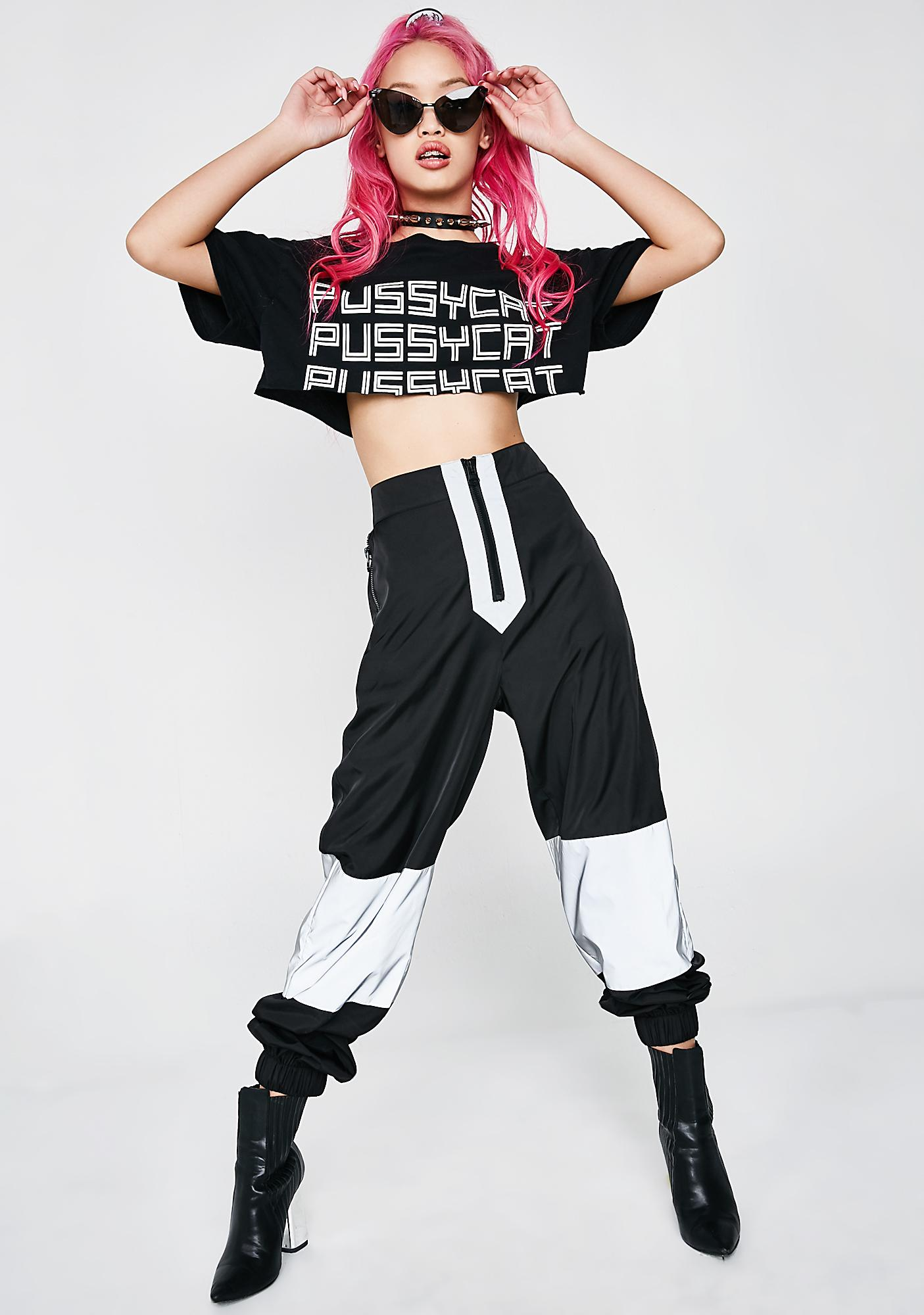 Poster Grl Easy Tiger Cropped Tee
