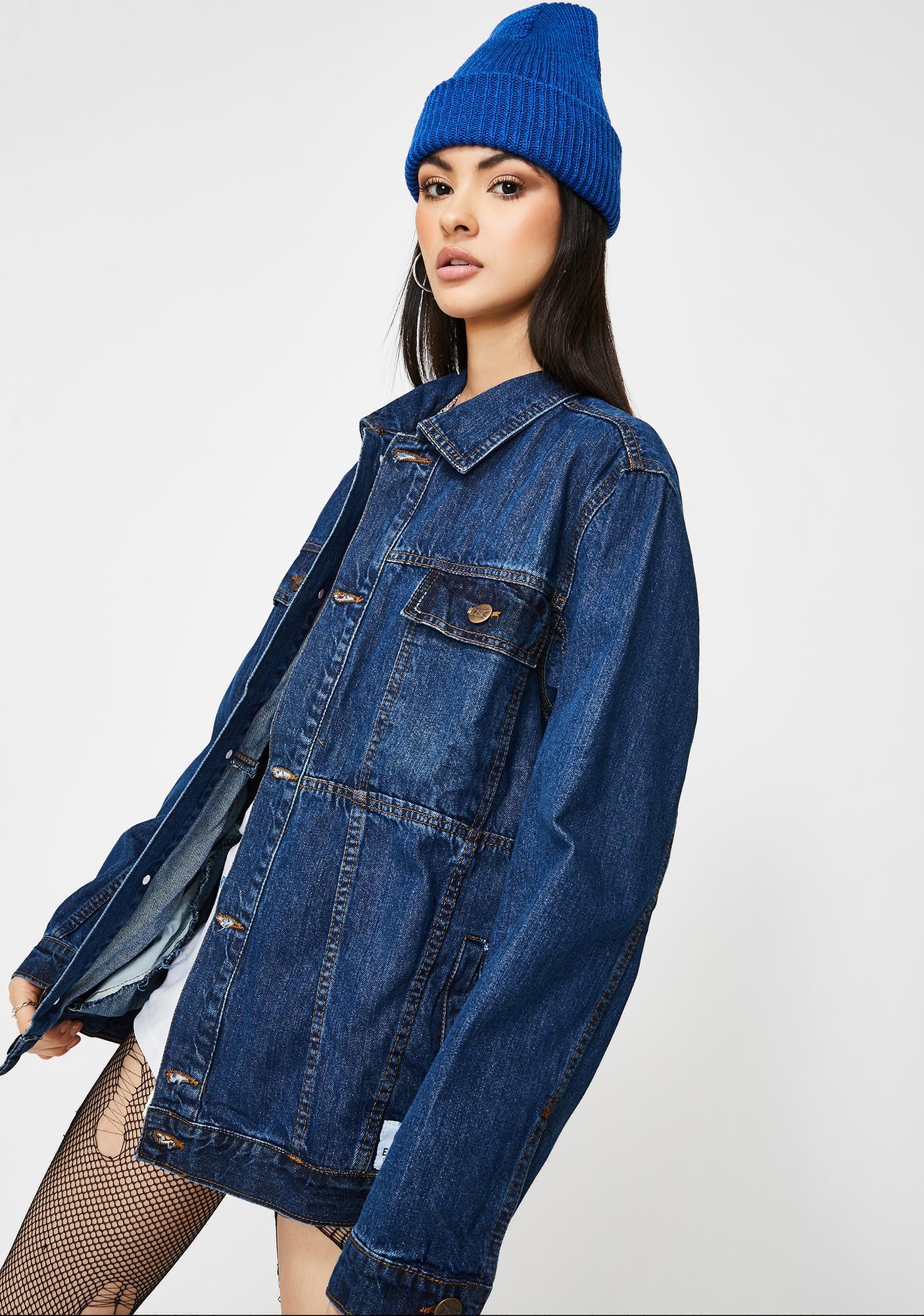 ETHIK Classic Dark Wash Denim Jacket
