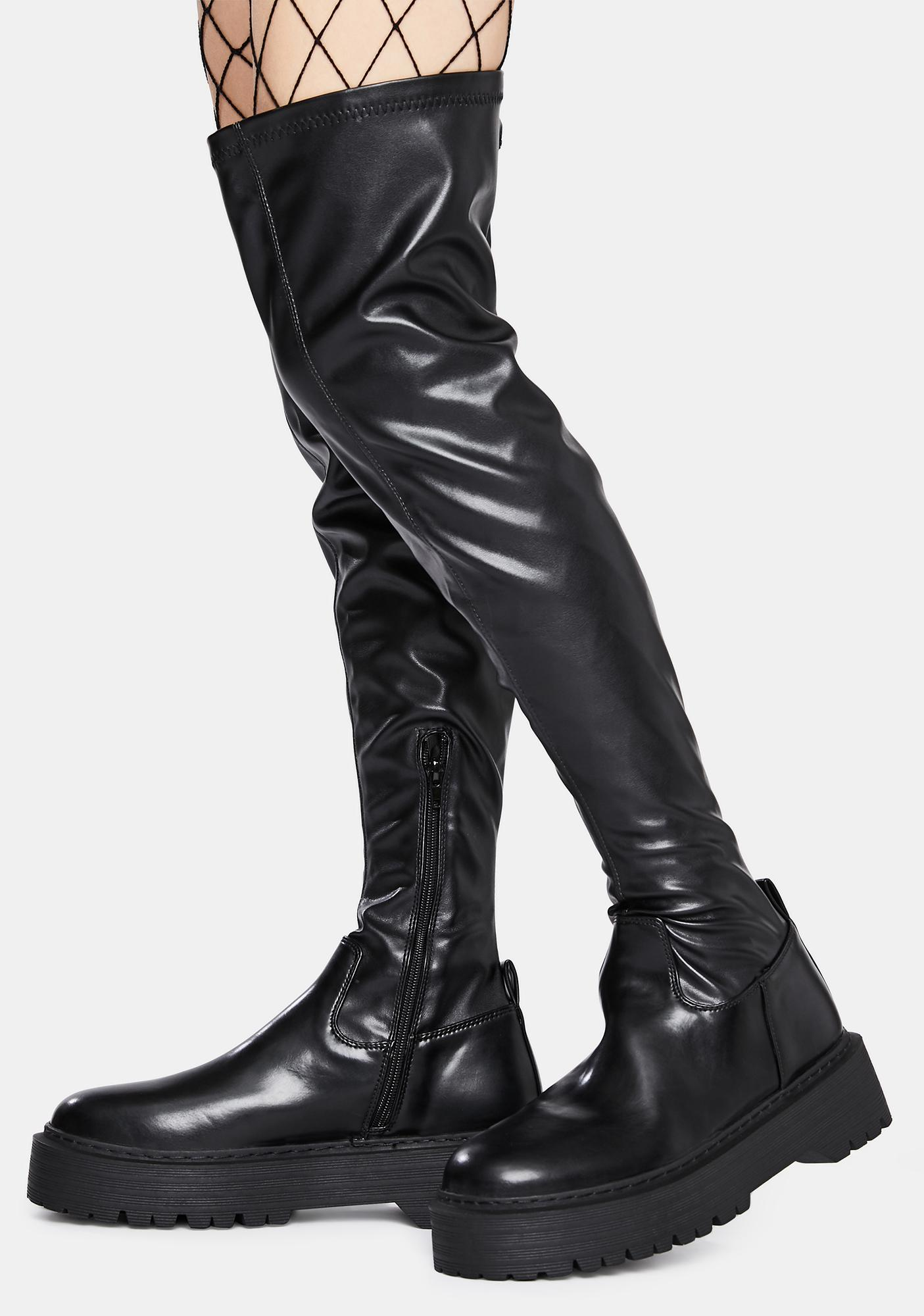 Public Desire Charly Knee High Boots