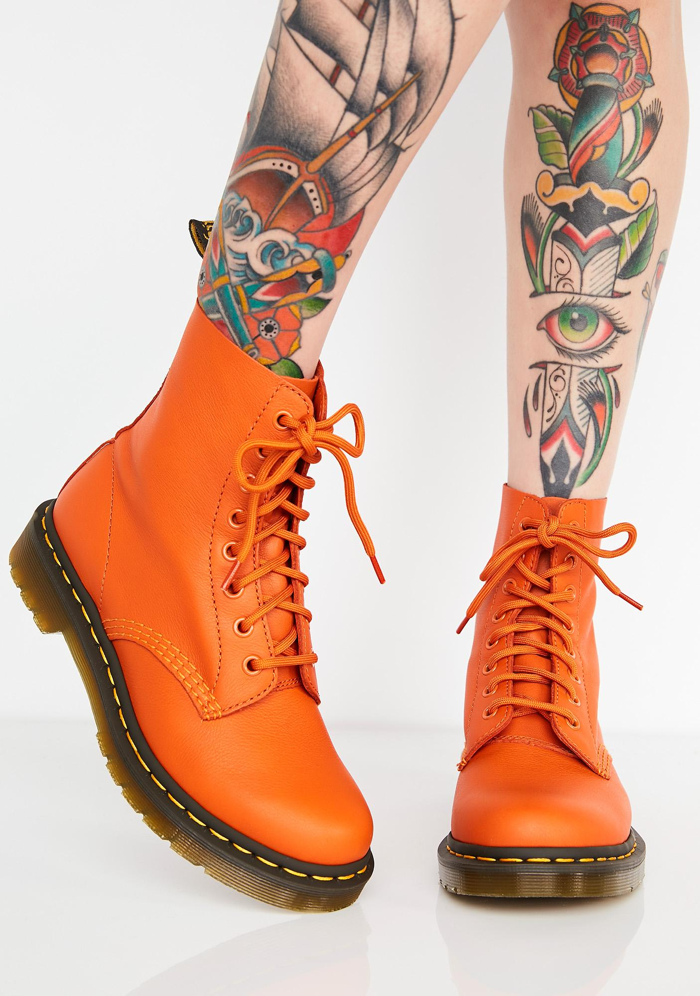 1460 Pascal Burnt Orange Boots by Dr Martens