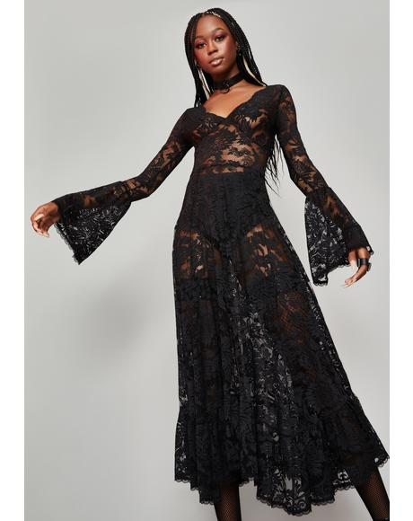 Lyrical Moonlight Lace Maxi Dress
