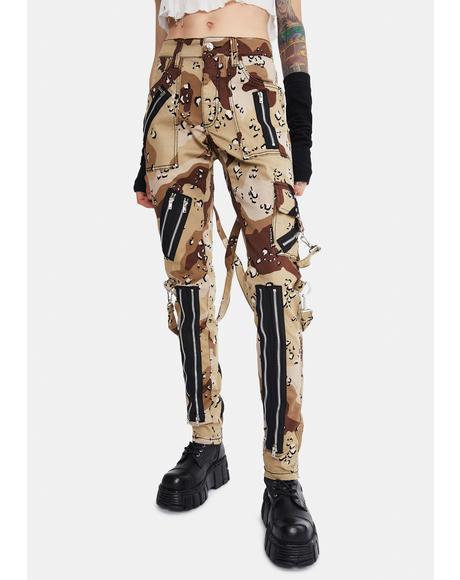 Sand Camo Classic Slim Leg Bondage Pants