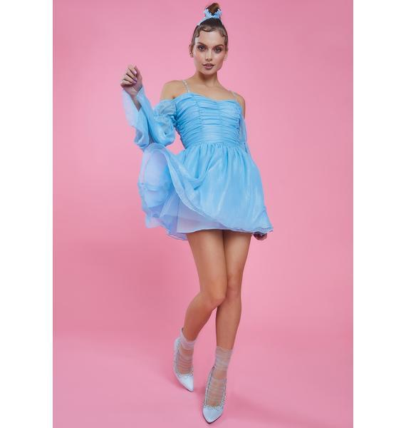 Sugar Thrillz Sky Let Them Eat Me Chiffon Corset Dress