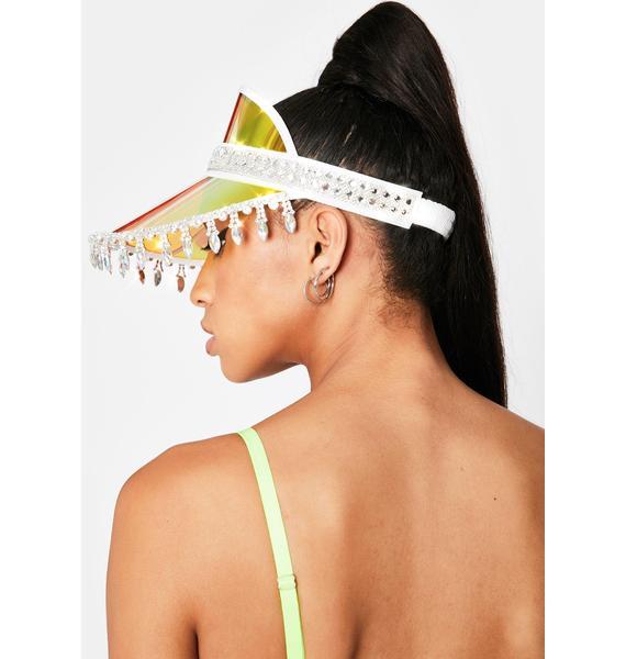 Stinnys Yellow Holographic Advize Me Visor Hat