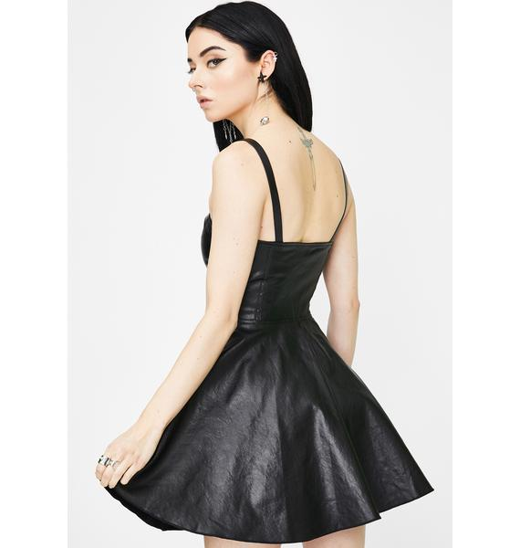 Punk Rave Zipper Decorative Sling Dress