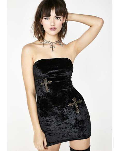 Fallen Angel Velvet Dress