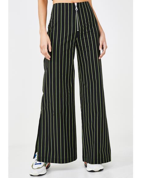 Cyber Pinstripe Pants