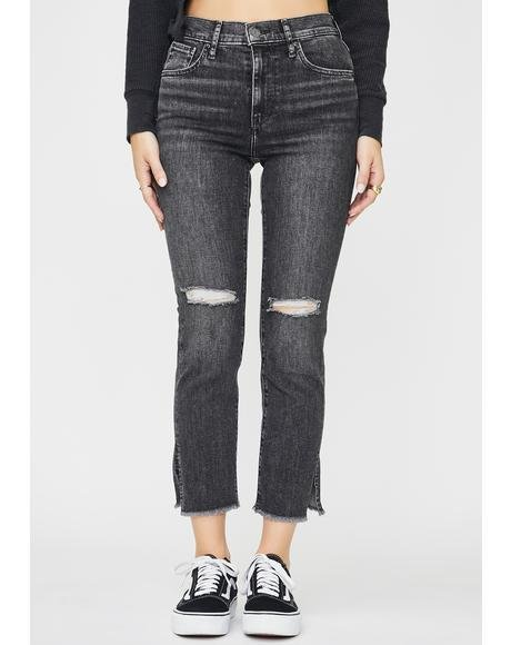 Dire Straits 724 High Rise Straight Crop Jeans