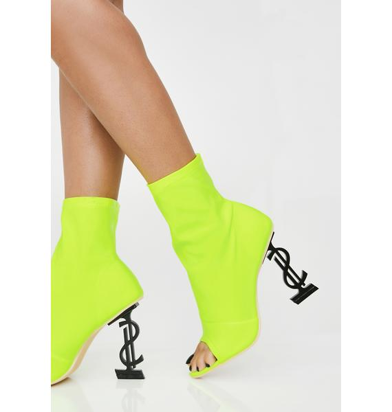 Cash Money Shot Peep Toe Booties