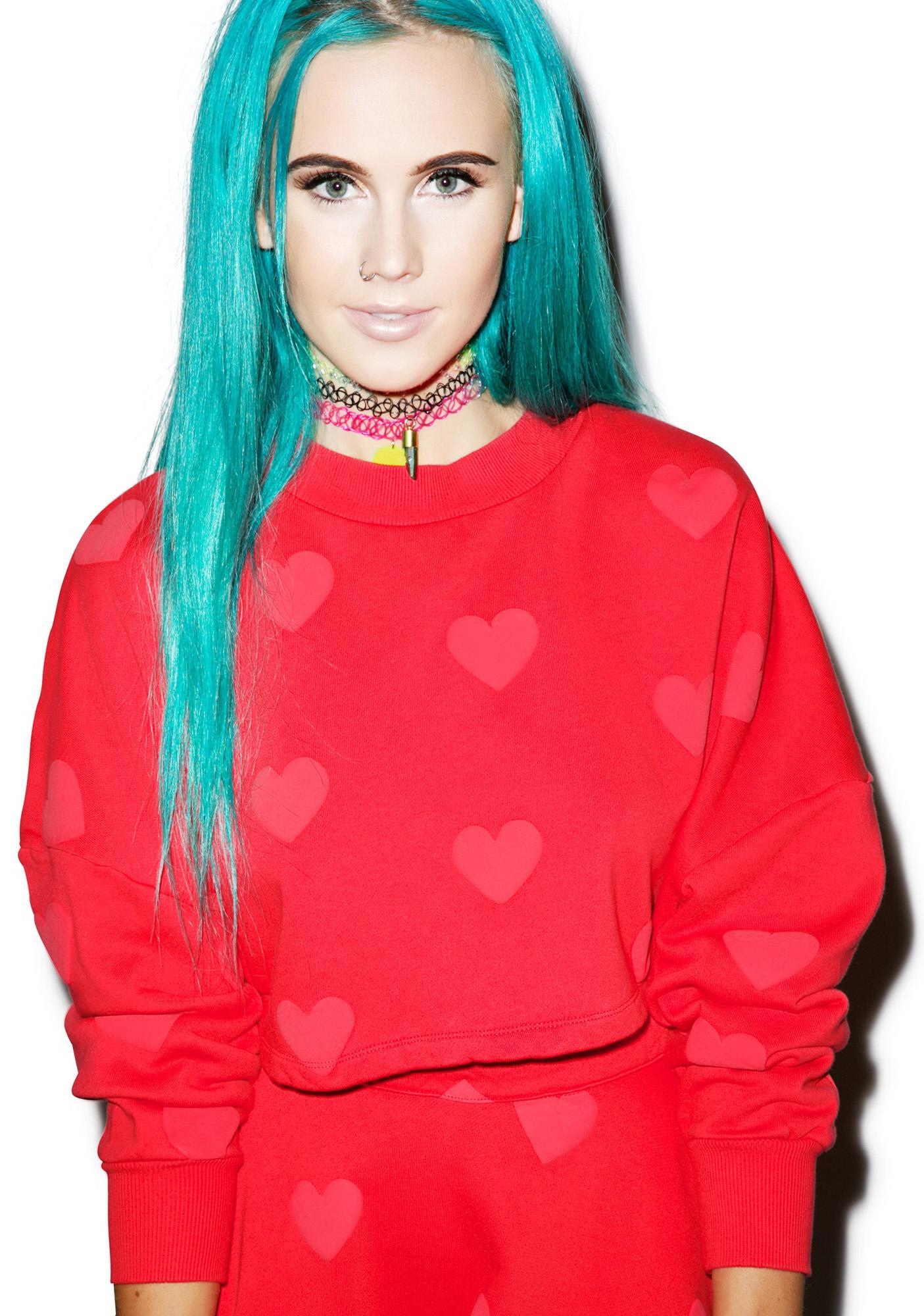 Lazy Oaf Heart Sweatshirt