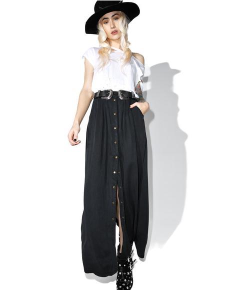 Sea Breezin' Button Up Maxi Skirt